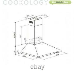 Oven Hob Hood Pack by Cookology Fan Oven, Touch Control Ceramic Hob, Cooker Hood