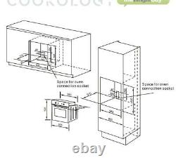 Oven Pack Cookology Built-in Electric Fan Oven, Cast-Iron Gas Hob & Curved Hood