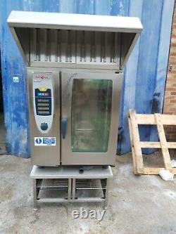 Rational 10 grid electric combi oven 3 phase with hood commercial combi grill