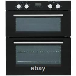 SIA DO101 60cm Black Built Under Double Electric Fan Oven With Digital Timer