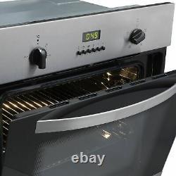 SIA SO112SS 60cm Stainless Steel Built in Digital Single Electric True Fan Oven