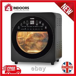 Tower T17051BLK 14.5L Digital Vortx Air Fryer Oven with Timer & Rotisserie New