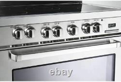 Verona VEFSEE365SS 36 Electric Range with 4 cu. Ft. European Convection Oven Bl