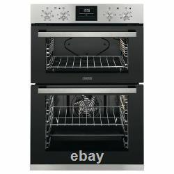 Zanussi ZOD35661XK Built-in Electric Double Oven Stainless Steel HA2950