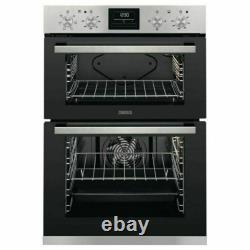 Zanussi ZOD35661XK Built-in Electric Double Oven Stainless Steel HW175053